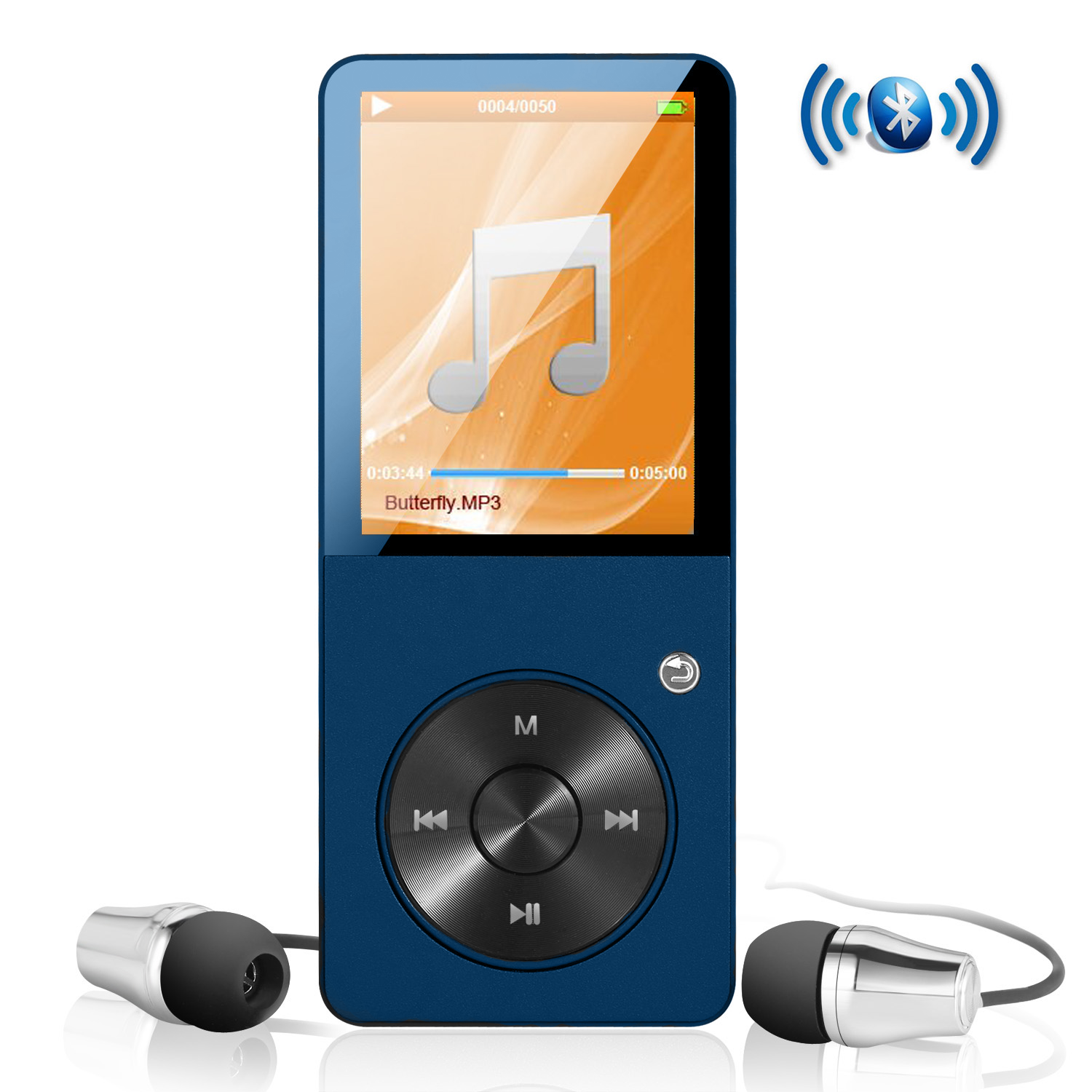 MP3 Player Music Player with Bluetooth ES Traders® 8GB Portable Mini Digital Music Player FM Radio, Photo Browsing, Video Play, Pedometer, Text Reading- Supports 64GB SD Card