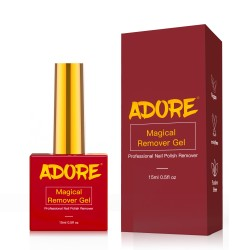 Adore Magic Gel Remover 15ml-Easy to use Gel Polish Remover within 2 -3 Minutes-Ideal Gel Nail Polish Remover for Quick Results-Used For Gel Nail Remover, Acrylic Remover for Nails, Gel Remover Polish