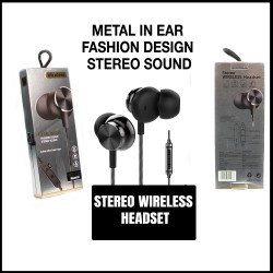 Wireless Headphones Bluetooth, Sports Earphone, HD Stereo Sound, In Ear Wireless Earphones with Noise-Cancelling Mic for Running, Jogging, Gym