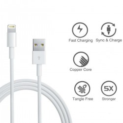 Charging Cable FAST Charging Usb Heavy Duty Braided For iPhone 5 6 7 8 X & More