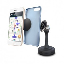 Car Phone Holder Magnetic Mount for Automotive Windshields, Dashboards, Computer Monitors, Mirrors With 360° Rotation Stylish Mobile Phone Cradle for Universal Smartphone