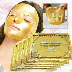 24k GOLD Collagen Mask Face Sheets Peel Bio Crystal Anti Wrinkle Aging Facial