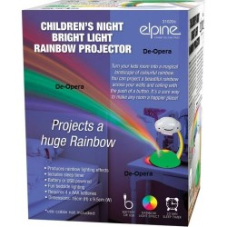 Children's Night Bright Light Rainbow Projector Lamp Nursery Bedroom Led