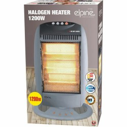 1200W ELECTRIC HALOGEN OSCILLATING HEATER 3 BAR PORTABLE HOME OFFICE HEAT