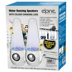USB WATER DANCING FOUNTAIN STEREO SPEAKERS SET MP3 PC LAPTOPS TABLETS MOBILES