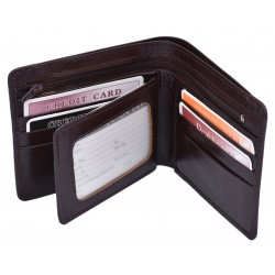 Mens Luxury Genuine Soft Leather Quality Wallet Bifold Wallet Credit Card Holder Gift